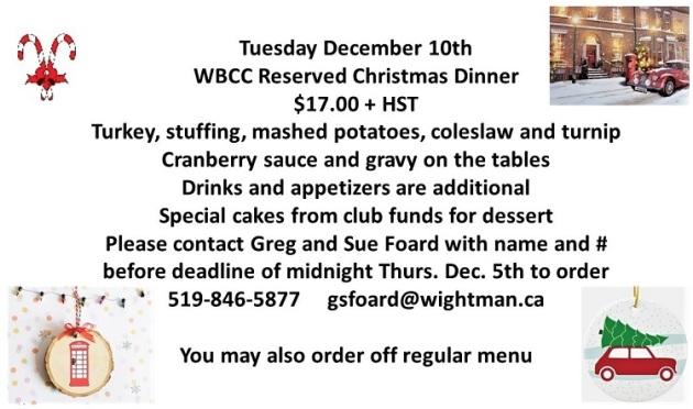 WBCC Christmas Dinner
